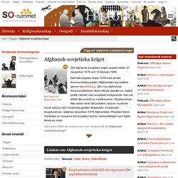 Afghansk-sovjetiska kriget