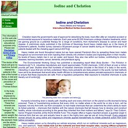 Iodine and Chelation