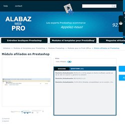 Módulo afiliados en Prestashop - Tiendas Virtuales Alabaz
