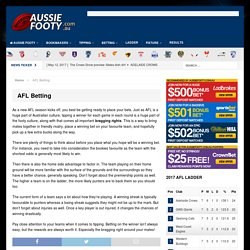 AFL Betting - AussieFooty