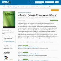 INTECH 21/10/11 Aflatoxins - Detection, Measurement and Control