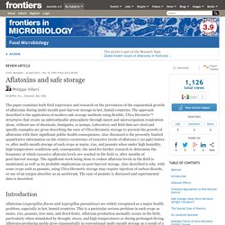 FRONTIERS IN MICROBIOLOGY 10/04/14 Aflatoxins and safe storage