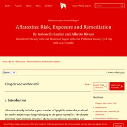 INTECH 23/01/13 Aflatoxins: Risk, Exposure and Remediation