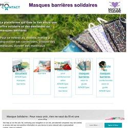 MASQUES : Plateforme Masques barrières solidaires - AFNOR