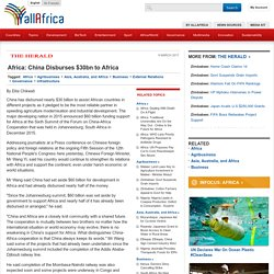 Africa: China Disburses $30bn to Africa