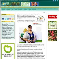 S. Africa: Fruit farmer crowned DAFF Female Entrepreneur 2016
