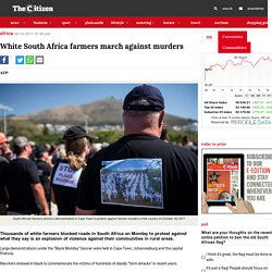 White South Africa farmers march against murders