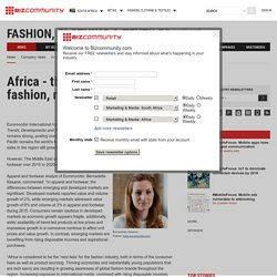 Africa - the 'next Asia' for fashion, report finds