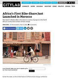Africa's First Bike-Share Just Launched in Morocco
