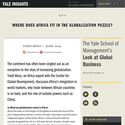 Where does Africa fit in the globalization puzzle?