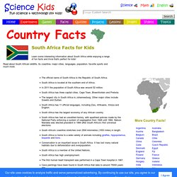 Fun South Africa Facts for Kids - Interesting Information about South Africa