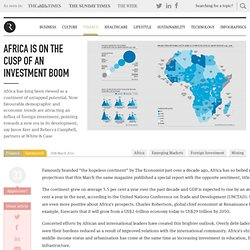 Africa is on the cusp of an investment boom