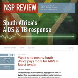 Weak rand means South Africa pays more for ARVs in latest tender - NSP Review
