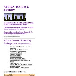 Africa lessons index