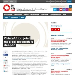 China-Africa joint medical research to deepen