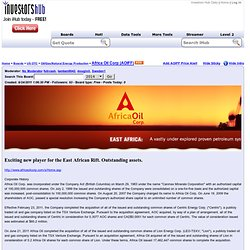 Africa Oil Corp (AOIFF) Stock Message Board