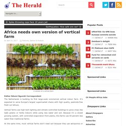 Africa needs own version of vertical farm