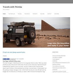 Africa overland - Travels with Thimba