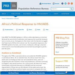 Africa's Political Response to HIV/AIDS