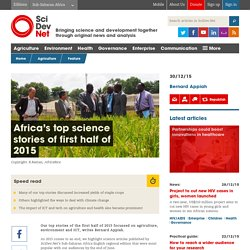 Africa's top science stories of first half of 2015 - SciDev.Net Sub-Saharan Africa