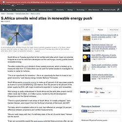 S.Africa unveils wind atlas in renewable energy push
