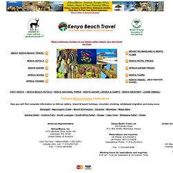 Kenya Safari & Hotels - Africa Vacations, Holidays & Tra