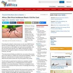 Africa: Zika Virus Incidences Reach 15.6 Per Cent