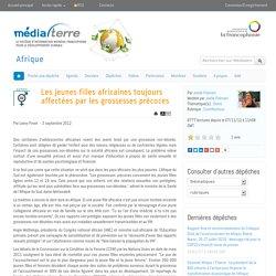 Les jeunes filles africaines toujours affectées par les grossesses précoces