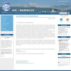 Les Africains et la Grande Guerre - APHG Aix Marseille