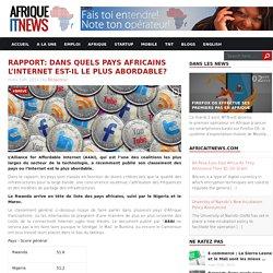 Rapport: Dans quels pays africains l'Internet est-il le plus abordable?
