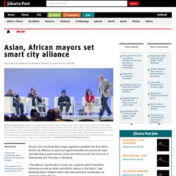 Asian, African mayors set smart city alliance
