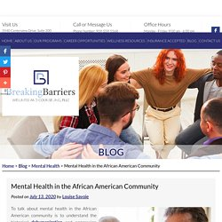 Mental Health in the African American Community