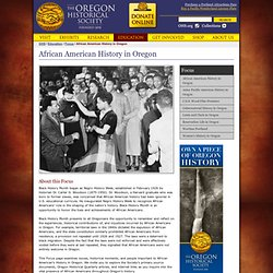 African American History in Oregon