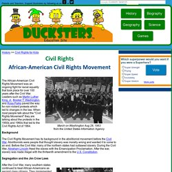 Civil Rights for Kids: African-American Civil Rights Movement