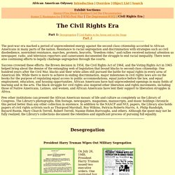 African American Odyssey: The Civil Rights Era (Part 1)