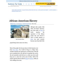 African-American Slavery after 1500