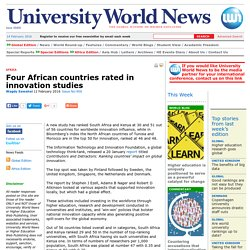 Four African countries rated in innovation studies