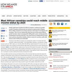 Most African countries could reach middle income status by 2025