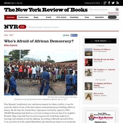 Who's Afraid of African Democracy? by Helen Epstein