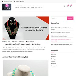 9 Latest African Dual Colored Jewelry Set Designs - Jazron