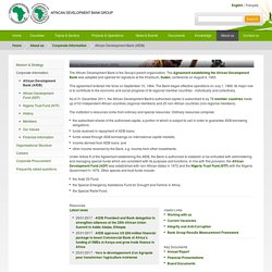 African Development Bank (AfDB) - African Development Bank