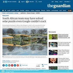 South African team may have solved solar puzzle even Google couldn't crack