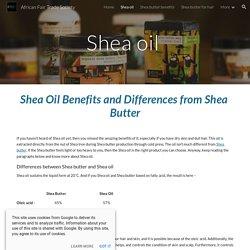 African Fair Trade Society - Shea oil