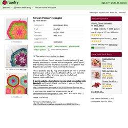 African Flower Hexagon pattern by Heidi Bears
