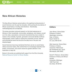 New African Histories · Ohio University Press / Swallow Press