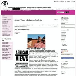 Why World Radio Day? | African Views Intelligence Analysis