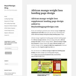 African mango weight loss landing page design
