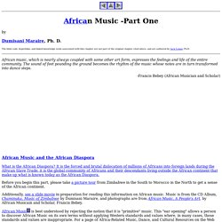 African Music -Part One