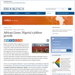 African Lions: Nigeria's jobless growth