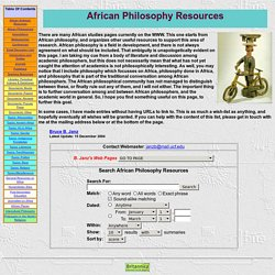 African Philosophy Resources